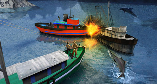 Fishing Boat Driving Simulator - игра для Андроид
