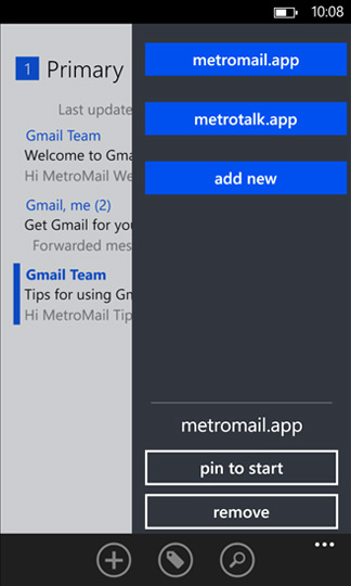 MetroMail - программа для Windows Phone
