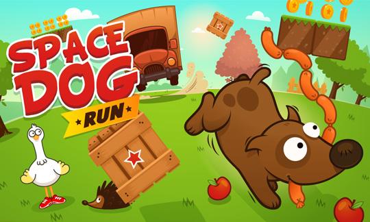 Игра Space Dog Run для Nokia Lumia 520