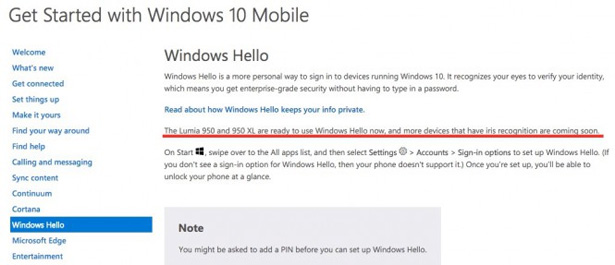 Microsoft: работа над Lumia 750 и Lumia 850 с поддержкой Windows Hello