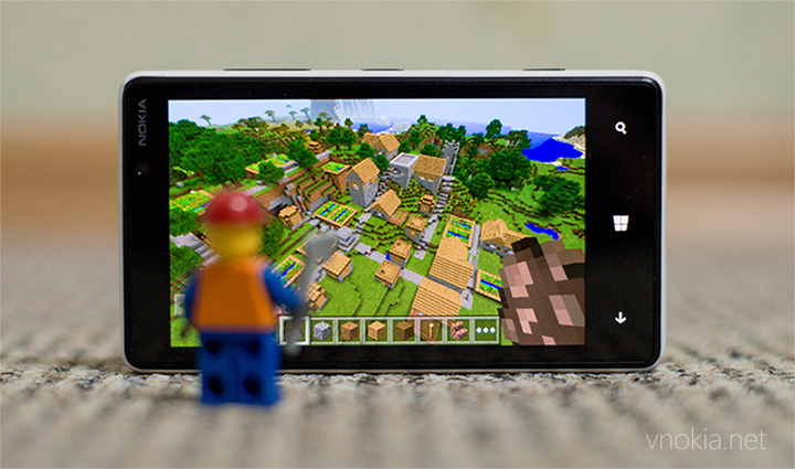 Новая версия игры Minecraft: Pocket Edition для системы Windows Phone