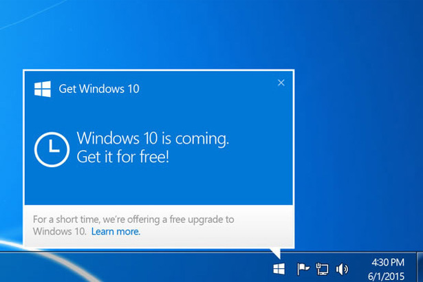 В ПК на Windows 7 и Windows 8.1 будет покончено с приложением Get Windows 10