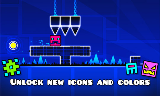 Geometry Dash - потеха интересах Windows Phone