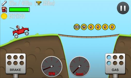 Hill Climb Racing - развлечение с целью Windows Phone