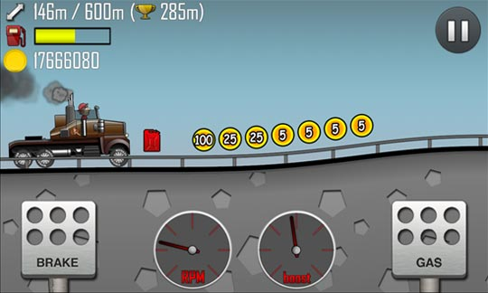 Hill Climb Racing - игрушка интересах Windows Phone