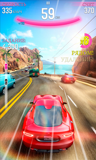 Asphalt Overdrive - забава для того Windows Phone