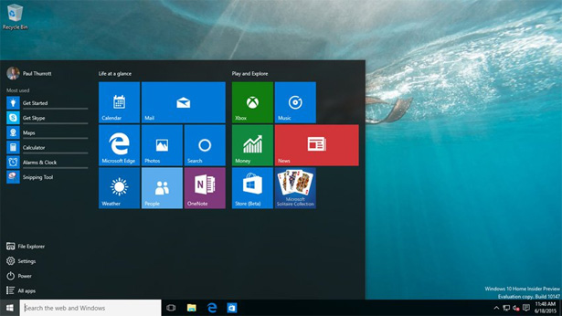 Утечка – Windows 10 Build 10147