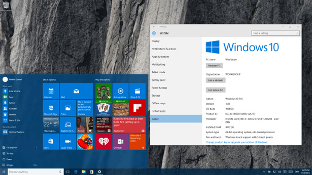 Билд Windows 10 Insider Preview 10586 для ПК доступен для «медленного кольца»